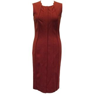 Diane Von Furstenberg Red Sleeveless Dress