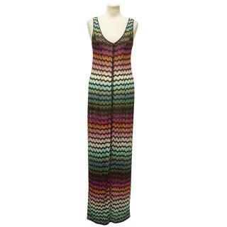 Missoni Long Multi-Coloured Sleeveless Knit Dress