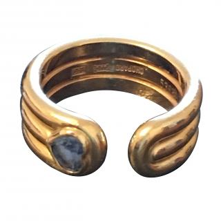 Chopard Heart Shaped Diamond Open Band Ring