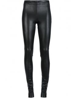 Joseph Black Gab Leather Leggings