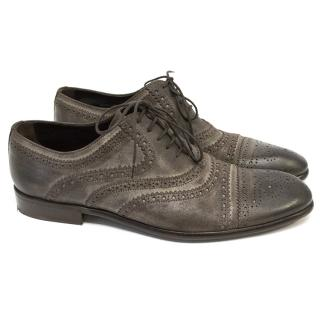 Dolce & Gabbana Brown Suede Brogues