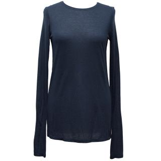 Victoria Beckham Royal Blue Top with Black Stripe