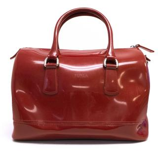 Furla Red Pvc Tote Candy Bag