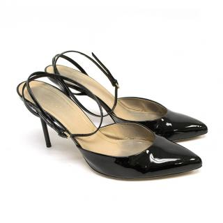 Gucci Black Patent Leather Pointed Toe Heels
