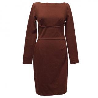 Stella McCartney Red Cotton Blend Dress