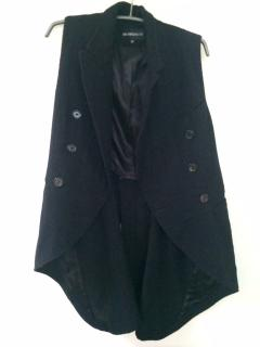 Ann Demeulemeester virgin wool waistcoat with tails