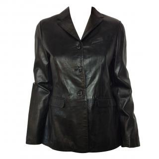 Natan black leather jacket
