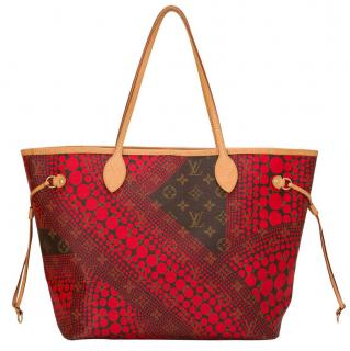 Louis Vuitton Limited Edition Yayoi Kusama Waves Neverfull MM Tote