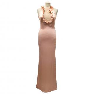 Alexander McQueen Pink Silk & Lace Evening Gown