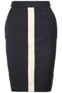 By Marlene Birger high-waisted panelled twill skirt