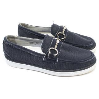 Dolce & Gabbana Blue Canvas Shoes