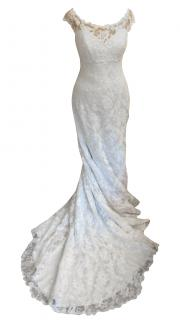 Suzanne Neville Hepburn wedding dress