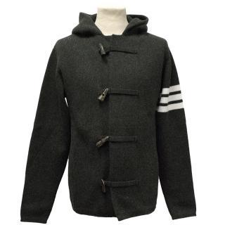 Thom Browne Grey Cashmere Duffle Coat