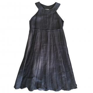 Sonia by Sonia Rykiel linen blue pinafore dress