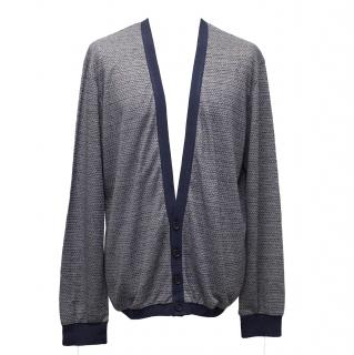 Roland Mouret Grey and Blue Cardigan