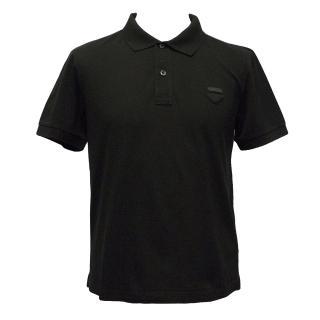 Prada Black Cotton Polo