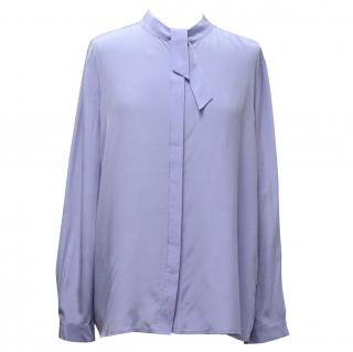 Iris & Ink Silk Blue Blouse