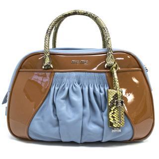 Miu Miu Patent Leather & Python Bag