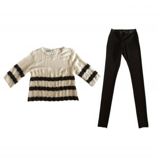 Malene Birger voile tunic with lace trims + legging
