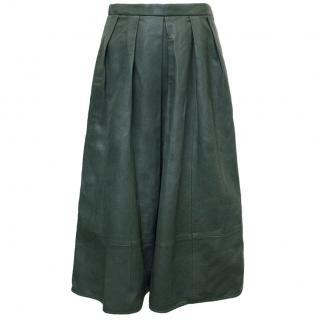 Tibi Dark Green Mid-Length Skirt