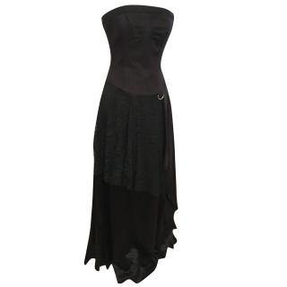 Christian Lacroix gothic silk dress