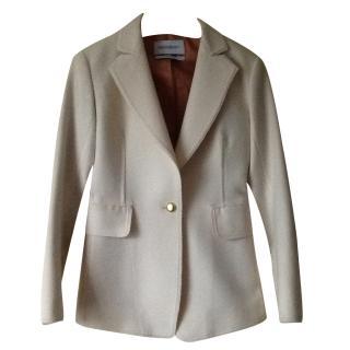 Yves Saint Laurent cream wool jacket size 34