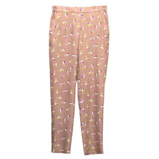 J Crew Floral Pattern Polyester Trousers