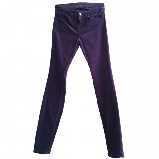 J Brand burgundy corduroy skinny jeans