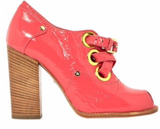 Mulberry baby pink leather boots