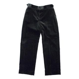 Marie Chantal Green Velvet Trousers