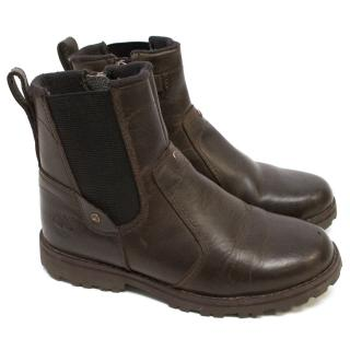 Timberland Boys Brown Leather Ankle Boots