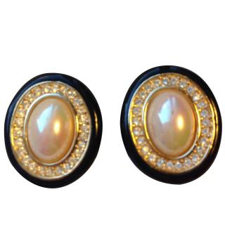 Christian Dior GP Pearl & Crystal Earrings