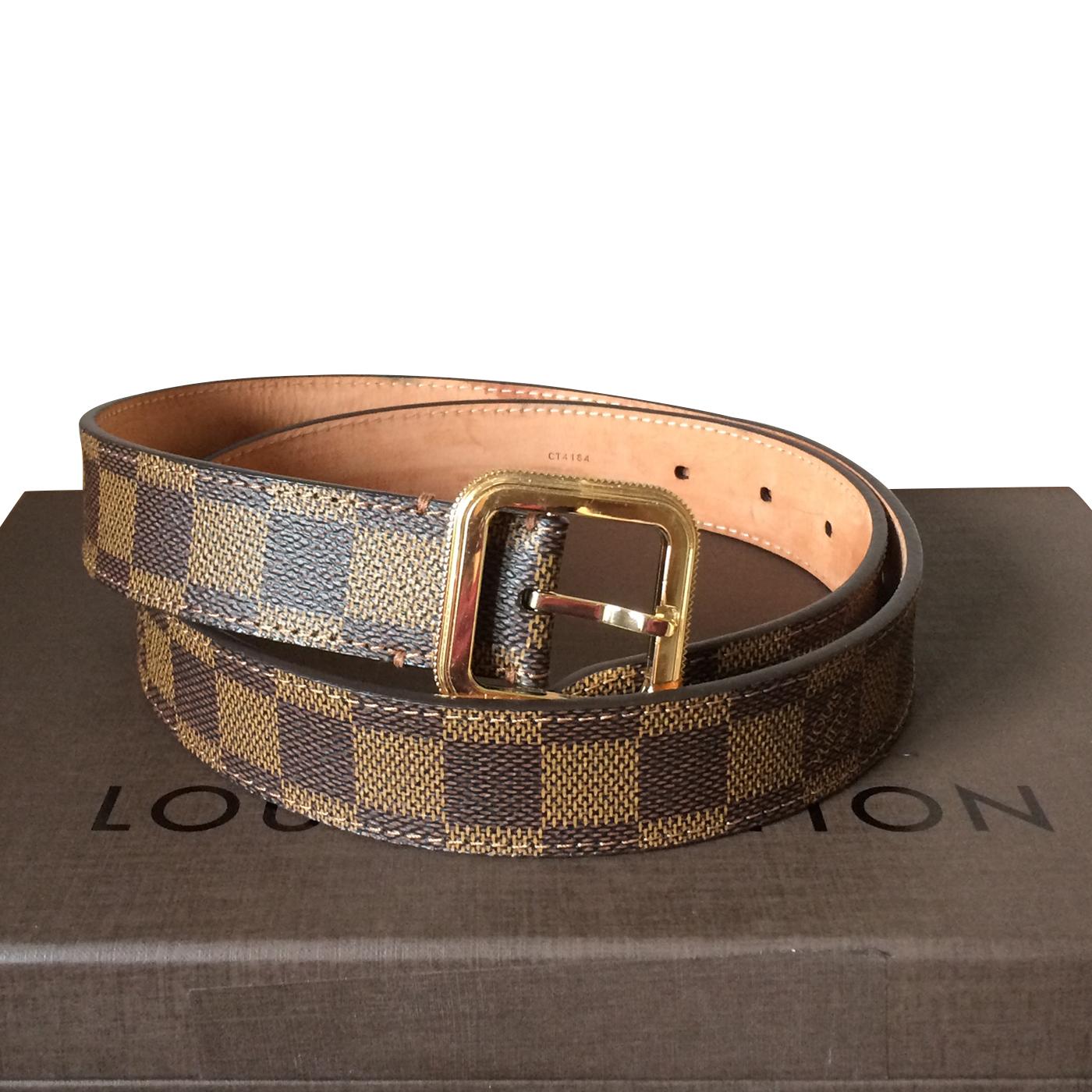 db4a9836817b Louis Vuitton Tresor Damier Ebene Belt Size M