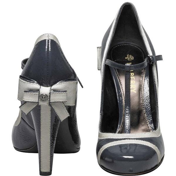 d58918e46eb2 Mulberry Grosgrain Patent Pump Kitty Bow Heels