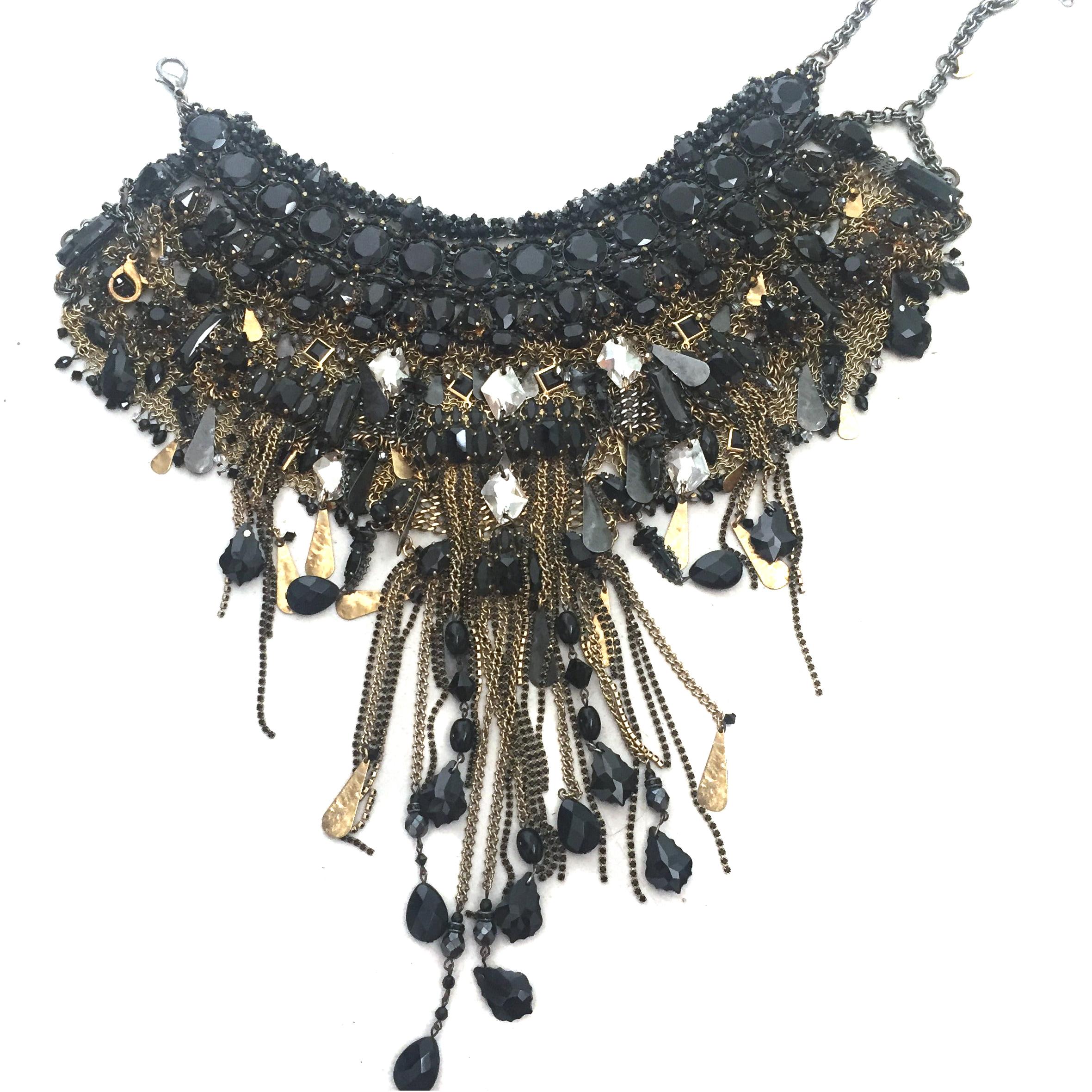 Erickson Beamon black and gold necklace