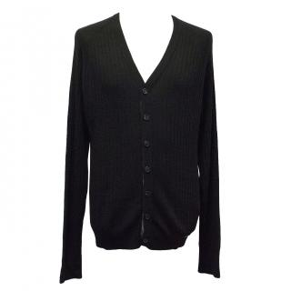 Burberry Black Wool-Blend Cardigan