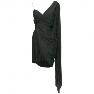 Alexander Wang Black Asymmetrical Dress