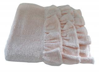 Agent Provocateur baby pink cotton towel