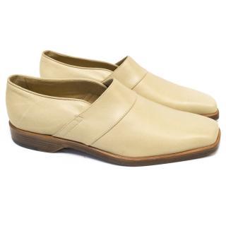 Manolo Blahnik Cream Loafers