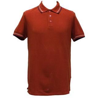 Prada Red Pique Polo
