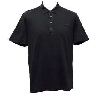 Prada Navy Blue Cotton Polo