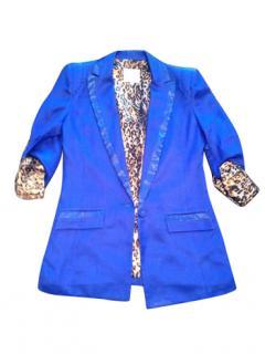 Arrogant Cat Electric Blue Blazer Balmain Style