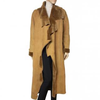 Gilles Ricart long shearling coat