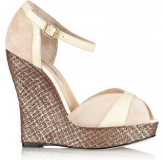 Oscar de la Renta Elise Wedge Sandals