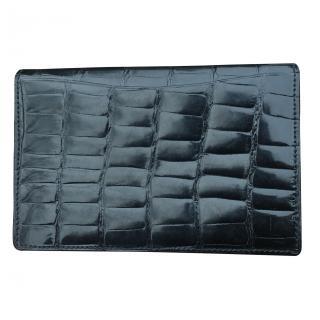 Bvlgari Bvlgari Black Crocodile Wallet Purse