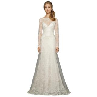 David Fielden Vintage Inspired Lace Long Sleeve Wedding Dress