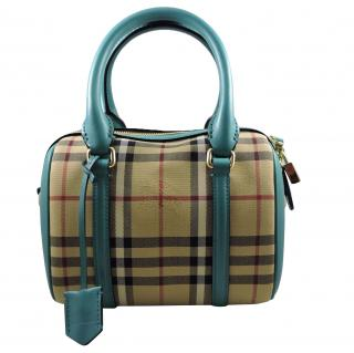 Burberry Alchester Aqua Green Cross Body Bag
