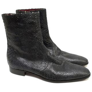 Jean-michel Cazabat black snake boots