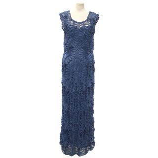 Lisa Maree 2 piece crochet blue dress