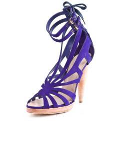 Philosophy By Alberta Ferretti Purple Suede Sandals Heels